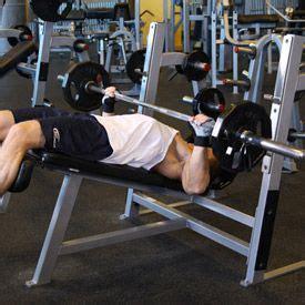 Decline Bench Grip Triceps Press by Bodybuilding Wide Grip Decline Barbell Bench Press