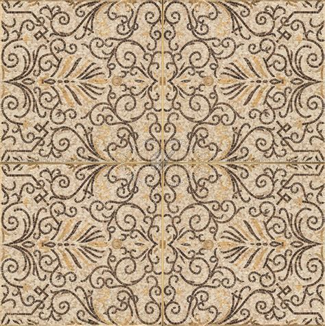 Mosaic ancient rome floor tile texture seamless 16412