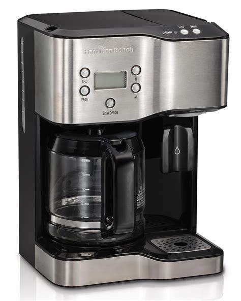 This product belongs to home , and you can find similar products at all categories , home appliances , kitchen appliances , coffee makers. Amazon.com: Hamilton Beach Programmable Coffee Maker & Hot Water Dispenser, 2-Way, Black and ...