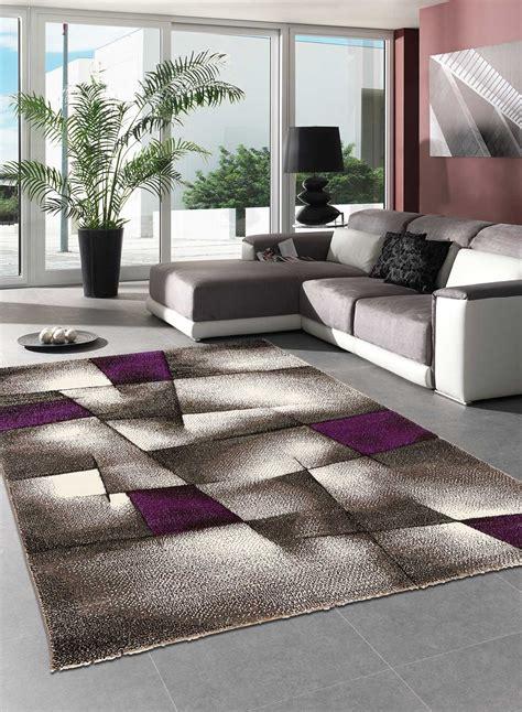 tapis salon design brillance ultimate violet de la collection unamourdetapis