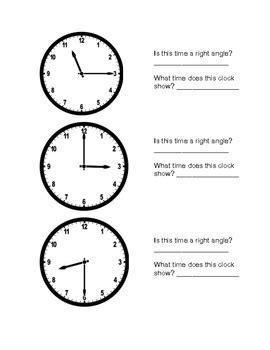 clock angles by kelly ruhe teachers pay teachers