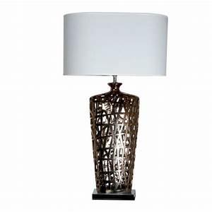 Grande Lampe De Salon Cuivre Queens Achat Vente Grande