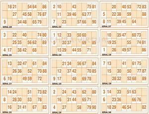 Cartones De Bingo Para Imprimir Gratis 300 Cartones De