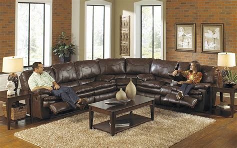 furniture large leather sectional recliner couch in dark