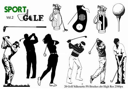 Silhouette Golf Brushes Ps Abr Vol Photoshop