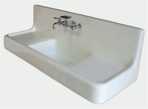 vintage kitchen sink with drainboard how to install an antique cast iron kitchen sink with
