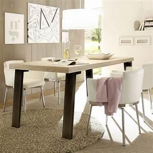 table de repas metal et bois moderne With table a manger moderne