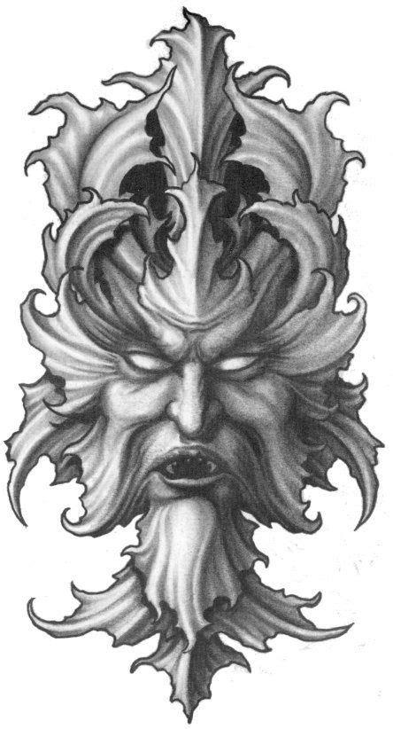 Pin by Larry Smith on Tattoo's | Demon tattoo, Green man, Tattoo designs