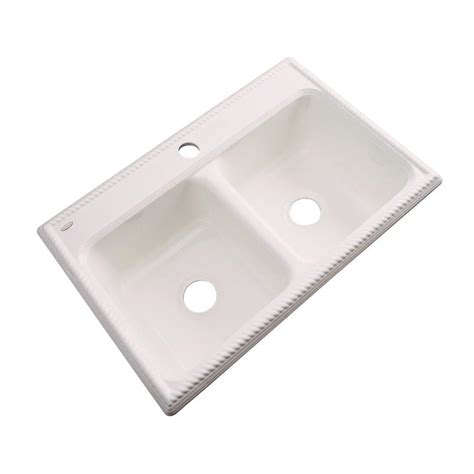 Thermocast Seabrook Dropin Acrylic 33 In 1hole Double