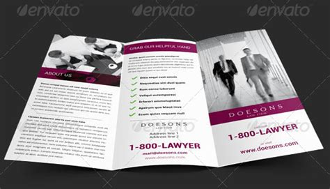 designed law firm brochures   professional