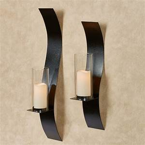 sinuous black wall sconce set by jasonw studios With black wall sconces
