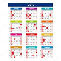 2017 Calendar with Holidays USA