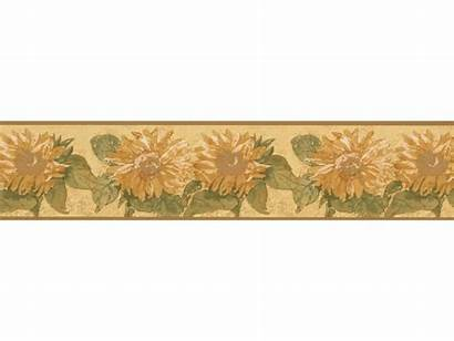Sunflower Background Border Yellow Borders Paper Wall