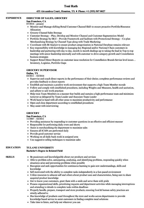 Grocery Store Resume by Grocery Resume Sles Velvet