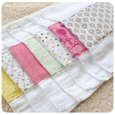 burp cloths burp cloth tutorial for the beginner sewist the thinking closet