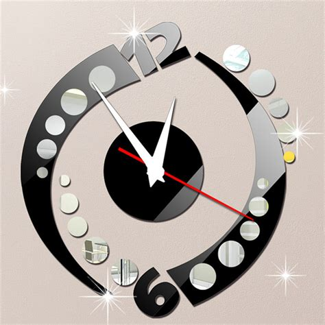 2015 style mirror wall clock modern design home