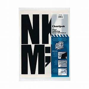 chartpak press on vinyl letters and numbers 6 black pack With chartpak press on vinyl letters