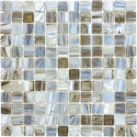 home depot wall tile kitchen sassi 1x1 tranquility glass mosaic 12 145 home depot 7159