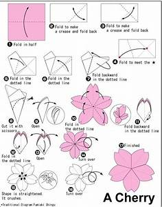 Origami Flower By Allison Gerley  Diagram Tutorial