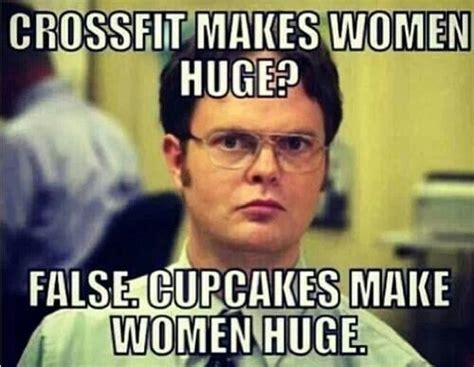 Funny Crossfit Memes - good thing i don t eat cupcakes muscles pinterest crossfit humor do eat and healthy living