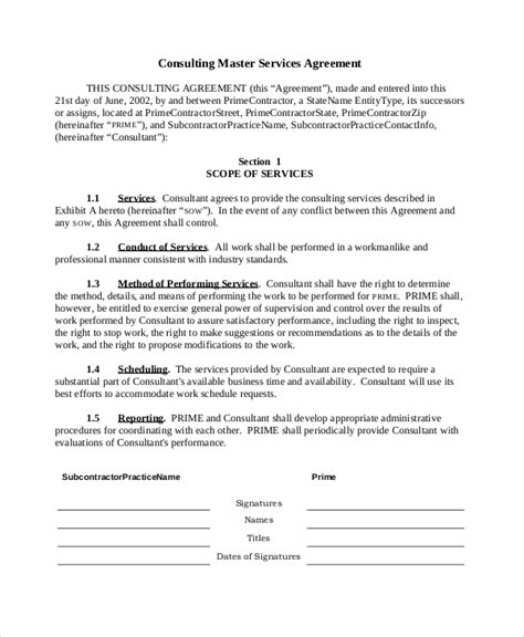 sample consulting agreement forms