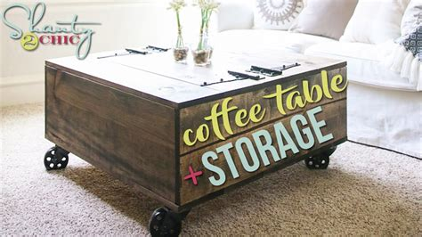 Diy Coffee Table With Storage  Shanty2chic Youtube
