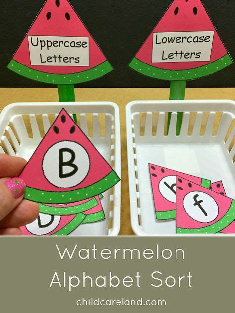 watermelon alphabet sort for letter recognition and review 803 | 529bd30826e38afdf8eaad551f365322