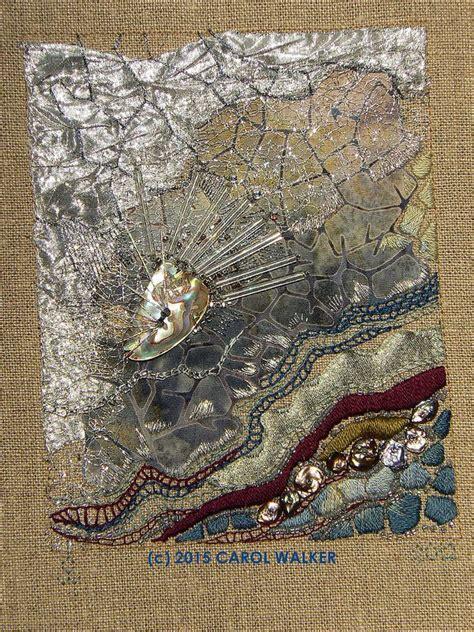 carol walker textile textiles light fiber bright crinkle artist artists ann long lee beads angle surface strands bugle flickr fabric
