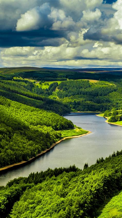 wallpaper uk  hd wallpaper hills river trees sky