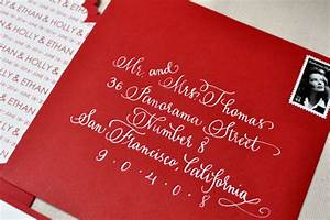 red and white modern letterpress wedding invitations With calligraphy wedding invitations london