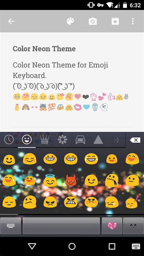 color emoji for android color neon emoji keyboard android apps on play