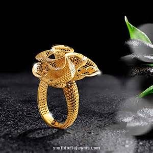 ring designer 22k gold ring design from one south india jewels