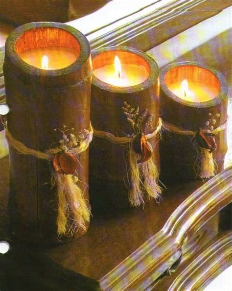 cosas hechas con bambu detodomanualidades como hacer velas en bambu