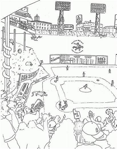 Coloring Boston Sox Pages Massacre Park Printable