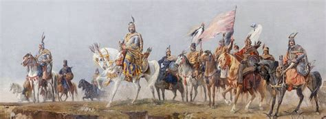 A G E The Arrival the arrival of the hungarians in 895 a d a painting by