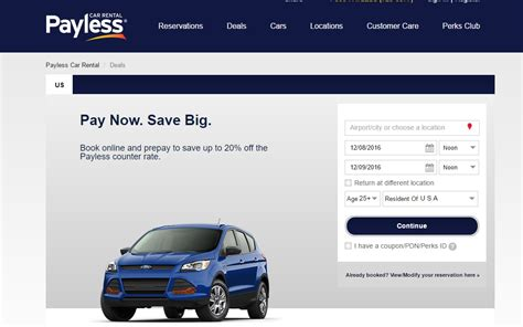 30% Off Payless Car Rental Coupon Code