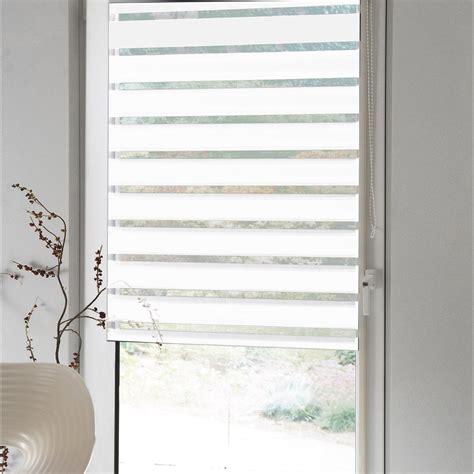 store enrouleur polyester jour nuit inspire blanc 77 80 x
