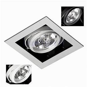 Spot Led Encastrable Plafond Faible Hauteur : spot encastrable ar111 gingko 1 blanc gris ou noir marque ~ Edinachiropracticcenter.com Idées de Décoration