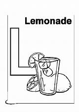 Lemonade Coloring Stand sketch template