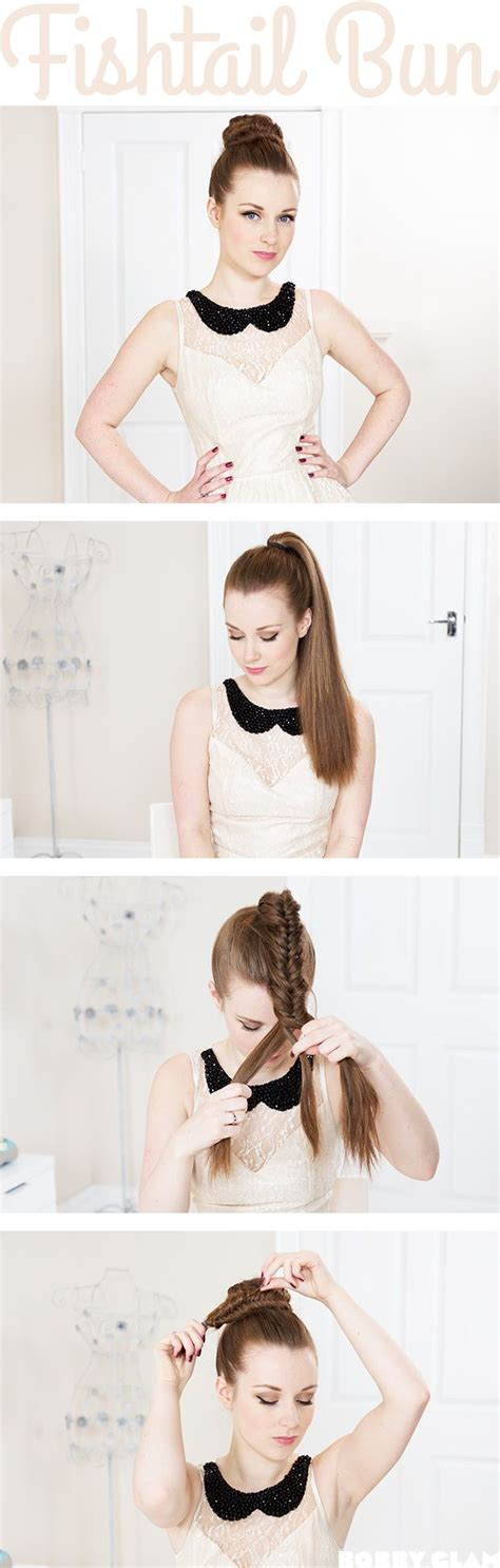 pony hair style best 25 fishtail braid buns ideas on how to 5575