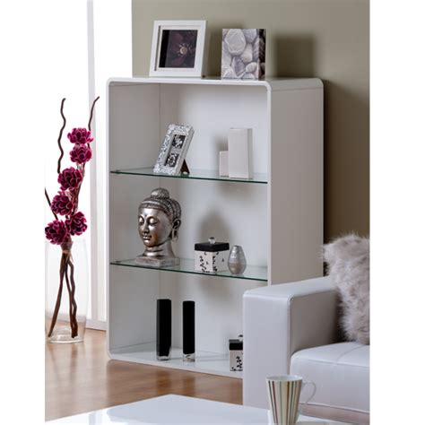 3 Foot High Bookcase by Toscana Bookcase In White High Gloss With 3 Compartments