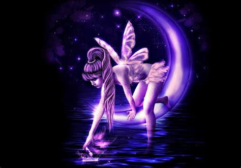 purple fairy hd wallpaper background image