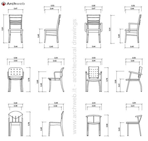 Sgabello Dwg by Sedie 2d In Prospetto Dwg Chairs In The Prospect