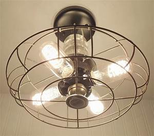 Flush mount ceiling light rustic industrial lighting