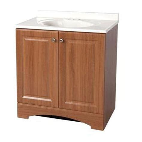 Glacier Bay Bathroom Cabinets Java by Glacier Bay Modular 30 1 2 In Vanity In Java With Solid