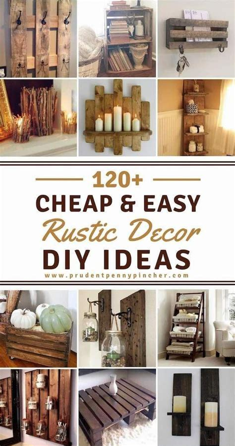 cheap  easy rustic diy home decor diy rustic