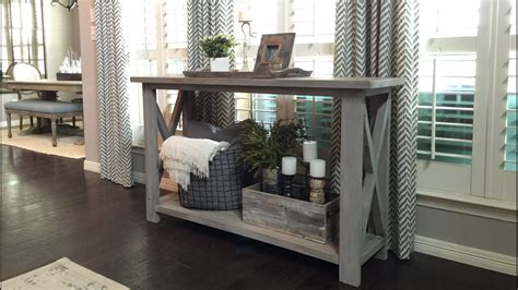 farmhouse style console table rustic x farmhouse console table by painteddoorco on etsy