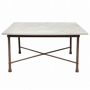 american 1970s wrought iron coffee table with marble top With wrought iron and marble coffee table