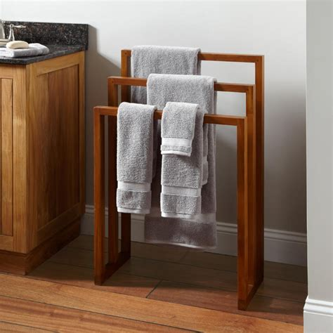 towel rack stand how to make wooden towel rack the homy design