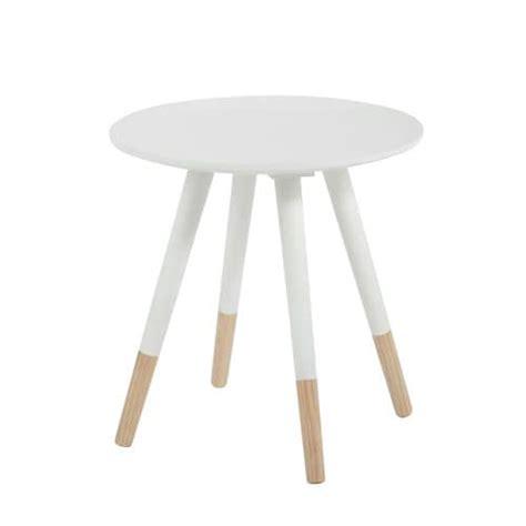 table basse vintage ronde blanche   cm dekale maisons du monde